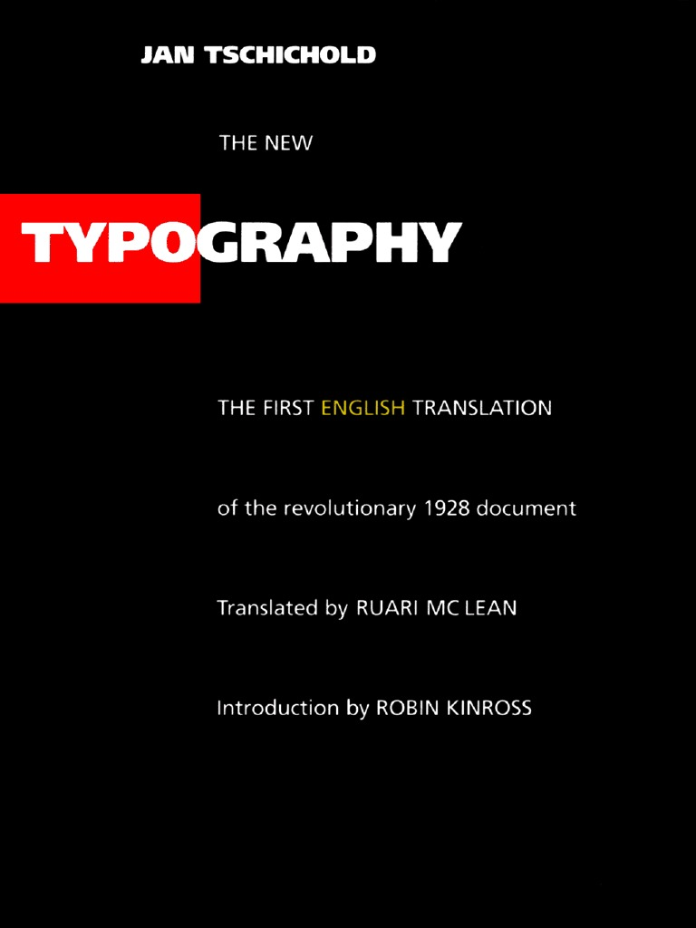 Tschichold Jan The New Typography Eng | Typography | Books