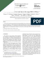 Roman N. Tolchenov et al- Water line parameters for weak lines in the range 9000–12 700 cm^-1