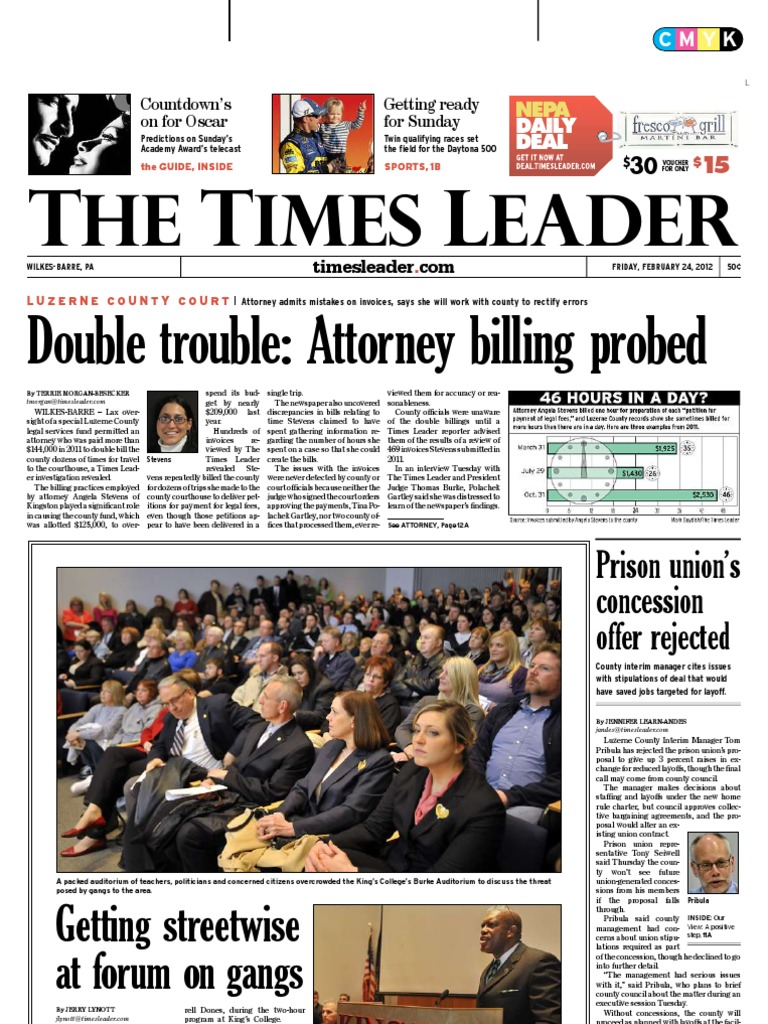 times leader 02 24 2012 united states federal probation and