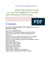 The Clarification of the Definitive Proofs Concerning the Foundations of Aqeedah and a Refutation of the Deviants