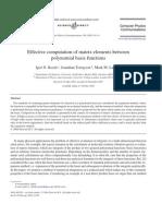 Igor N. Kozin, Jonathan Tennyson and Mark M. Law- Effective computation of matrix elements between polynomial basis functions