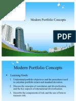 Modern Portfolio Concepts PPT @ BEC DOMS