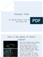 Sweeney Todd analysis of Opening Sequence