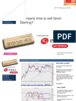 Is It Nearly Time to Sell Short Sterling IG