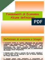 1. Definizioni economia 1