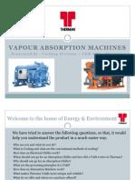 Vapour Absorption Machine - Basics - Upload