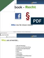 Facebook Recht & Datenschutz
