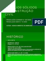 Resíduos sólidos na contrução civil CONAMA 307-2002