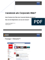 Facebook als Corporate Web? Vortrag CeBit 2011