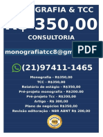 R$ 300,00 FAÇO MONOGRAFIAS TCC COMPRAR VENDER ENCOMENDAR FAZER