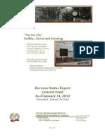 Revenue Status Report FY 2011-2012 - General Fund