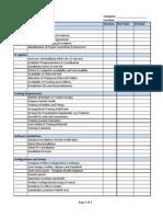 Implementation Worksheet
