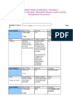 Production Schedule Template New