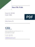 Design of Sheet Pile Walls