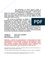 Regulamento CBL - Pedido de Ficha Catalográfica (ISBN)