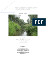 Geomorphic Assessment and Corridor Planning, McCabe's Brook Watershed