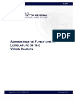 AUDIT (Virgin Islands Legislature) 2011 USDOIOIG-Office of the Inspector General