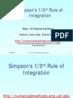 Simpson's Rule