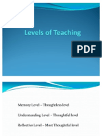 Levels of Teaching