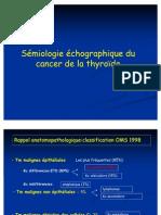 Sémiologie échographique du cancer de la thyroïde