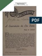 A Superstição da Côr Preta - Mário de Andrade 1938