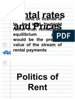 Rental Rates and Prices