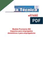 EMPREGADAS DOMÉSTICAS E PATRÕES notatec27-MP284 ANO 2006