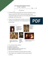 Ficha de Trabalho-Informativa Absolutismo