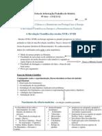 Ficha de Trabalho-Informativa Revolução Científica XVII-XVIII