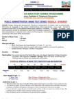 Module Synergy Public Administration Interactive Ias Main Test Series