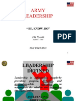 Army Leadership (Be, Know, Do)