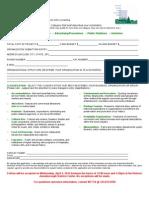 Pinnacle Entry Form 2012