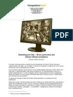 Gutenberg em bits – Breve panorama dos diários oficiais no Brasil