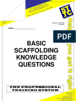 Basic Scaffolding Questions Answers