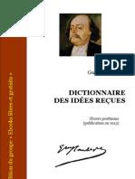 Flaubert Dictionnaire des idées reçues