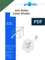 Basic Notes Laser Diodes