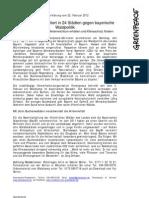 Presseerklärung v. 22.02.2012- Protest gegen bay. Waldpolitik
