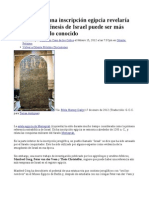 El análisis de una inscripción egipcia revelaría que la etnogénesis de Israel puede ser más antigua que lo conocido