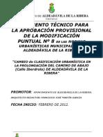 Doc técnico Cambio Normas Urbanísiticas 8 ALDEADÁVILA de la RIBERA