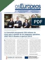 Boletin Fondos Europeos nº1 Comunidad Valenciana