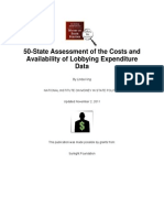 FINAL 50 State Lobbying Report