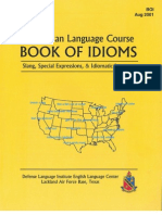 American Language Course - Book of Idioms, DLI, ELC, Lakeland Air Force Base, Texas, Aug 2001