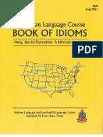 American Language Course - Book of Idioms, DLI, ELC, Lakeland Air Force Base, Texas, Aug 2001