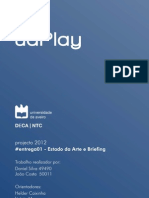 Estado Arte e Briefing - Projecto uaPlay