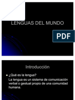 Lenguas Del Mundo - Power Point