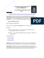 Plant Systematics - PBIO 109 Z1 - Course Syllabus