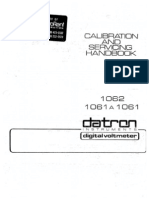 Datron 1061 1061A 1062 Calibration Service Manual