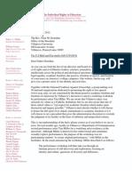 FIRE-NCAC Letter to Villanova University re