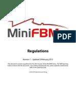 MiniFBM Series 2012 Rulebook
