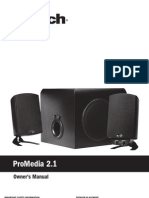 Pro Media 21 Owners Manual